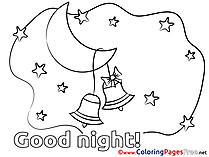 Bells free Colouring Page Good Night