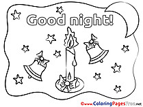 Bells printable Coloring Pages Good Night