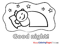 Boy download Good Night Coloring Pages