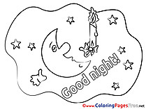 Coloring Pages Good Night for free