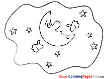 Colouring Sheet  Moon download Good Night