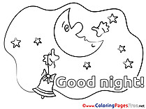 Crescent Good Night Coloring Pages free