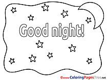 Drawing Moon free Good Night Coloring Sheets