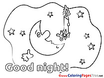 Image Moon download Good Night Coloring Pages