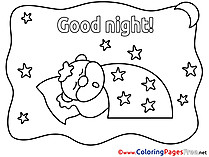 Pillow free Good Night Coloring Sheets