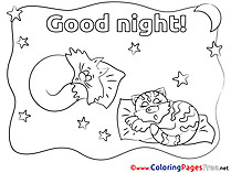 Pillows Good Night Coloring Pages free