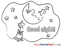 Printable Good Night Coloring Sheets