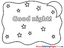 Stars Coloring Sheets Good Night free