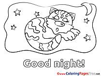 Tiger free Good Night Coloring Sheets