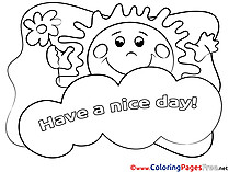 Have a nice day coloring cards