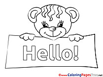 Hello coloring cards