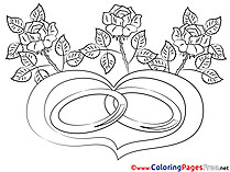 Flowers Coloring Pages Love for free