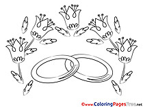 Flowers free Colouring Page Love