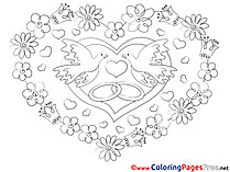 Flowers free Love Coloring Sheets