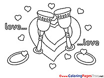 Glasses Coloring Sheets Love free