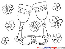 Glasses Love Coloring Pages free