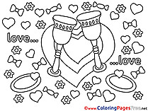 Hearts download Love Coloring Pages