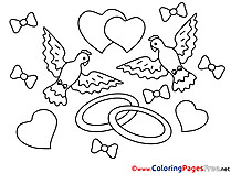 Pigeons Colouring Sheet download Love