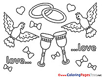 Pigeons Love Coloring Pages download