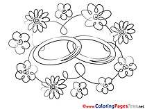 Rings printable Love Coloring Sheets