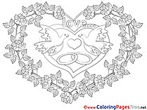 Roses Children Love Colouring Page