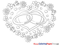 Wedding for Kids Love Colouring Page