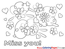 photograph relating to Free Printable Miss You Cards called Pass up by yourself coloring playing cards