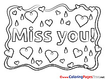 Love Coloring Pages Miss you for free