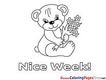 Bear Nice Week Coloring Pages download