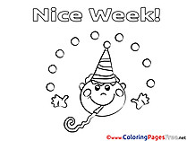 Boy printable Nice Week Coloring Sheets