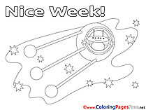 Cosmos Kids Nice Week Coloring Pages