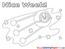 Nice week coloring cards