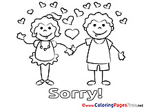 Love Coloring Pages Sorry for free