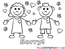 Love Kids Sorry Coloring Pages