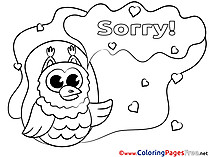 Owl Coloring Sheets Sorry free