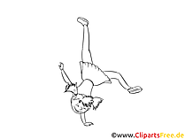 Acrobat Colouring Sheet download free Girl