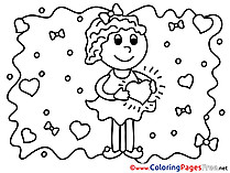 Hearts Kids free Coloring Page