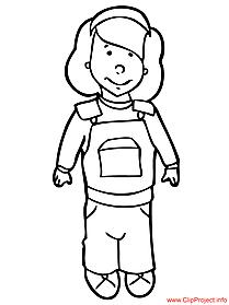 Little girl color sheet