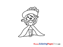 Little Princess Coloring Sheets download free