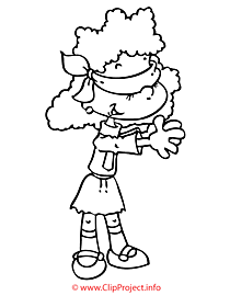 Playing girl coloring page for free