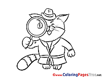 Detectives coloring pages