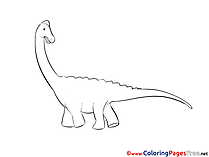 Dinosaur Coloring Pages for free