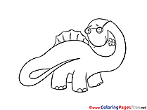 Dinosaur download printable Coloring Pages