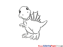 Dinosaur free Colouring Page download