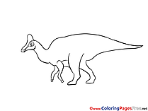 Hadrosaurus for Kids printable Colouring Page