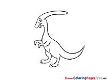 Parasaurolophus Kids free Coloring Page