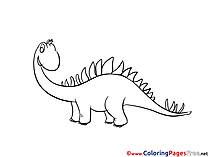 Stegosaurus download Colouring Sheet free