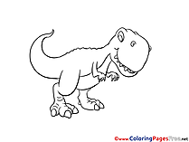 T-Rex for Children free Coloring Pages