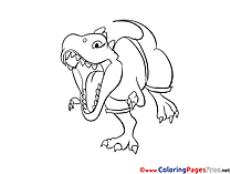 T-Rex printable Coloring Sheets download