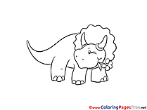 Triceratops Coloring Pages for free